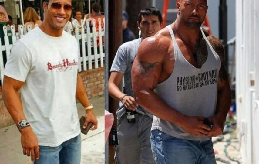 Transformation from The Rock to Dwayne Johnson